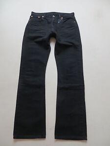 Levi-039-s-555-Bootcut-Jeans-Hose-W-33-L-34-schwarz-TOP-black-Denim-RARITAT