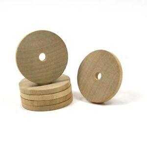 Washer Round - 1-3/4 x 7/32 inch with 1/4 inch hole wood (WW-BT5825)