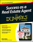 Success as a Real Estate Agent For Dummies by Dirk Zeller (Paperback, 2013)