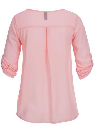 30/% OFF B15010666 Damen Madonna Bluse Turn-Up Zipper vorne 2 fake Taschen rosa