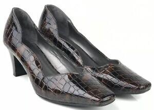 animale Croc 6 Size verniciata stampa bordo Clarks in 39 pelle Wide smerlato Ladies Fit Y1PRU