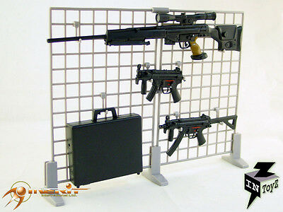 "InToyz 1/6  Scale 12"" Grey Gun Rack Panel For Action Figure Accessories"