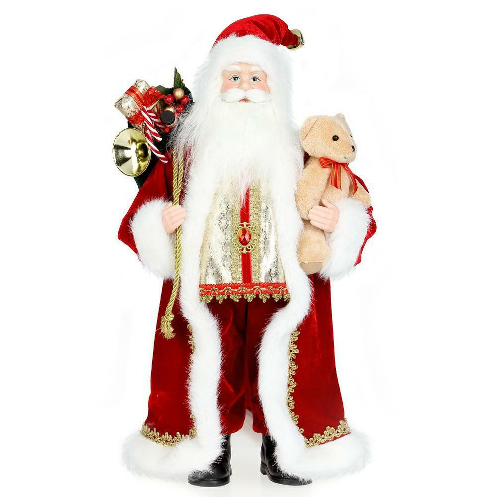 45cm 18inch Traditional Standing Father Christmas Santa