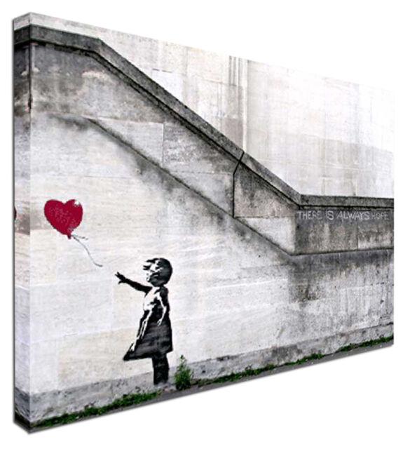 Balloon girl hope -  NEW BANKSY Modern Art Graffiti Canvas Print