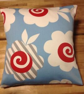 image is loading beautiful johnlewis red blue white floral cushion covers bn john lewis white