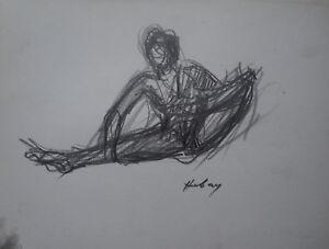 Disegni Di Ballerine Da Disegnare : Paul hubay 1930 1994 disegno studio ballerina firmato 2 ebay