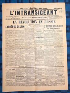La-Une-Du-Journal-L-intransigeant-24-Janvier-1905-La-Revolution-En-Russie