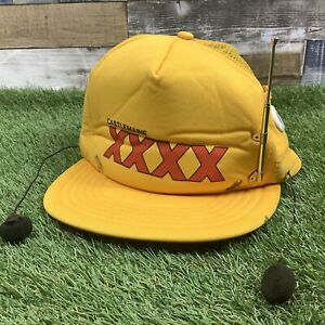 Vintage-Retro-1980s-Castlemaine-XXXX-Rare-Novelty-Radio-Baseball-Cap-Man-Cave