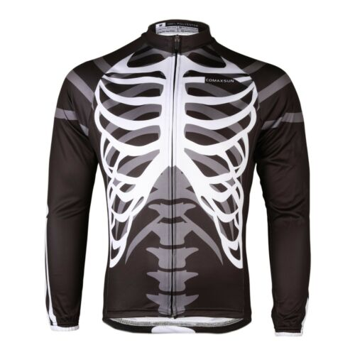 COMAXSUN Men/'s Long Sleeve Cycling Comfort Jersey Outdoor Shirts Skeleton LJ06