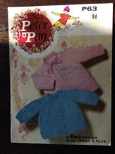 Peter-Pan-Knitting-Pattern-Baby-Matinee-Jackets-3ply-18-20-034-P63