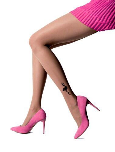 Femmes Feinstrumpfhose Tatouage Flamingo Pantyhose KNITTEX 20 le Beige