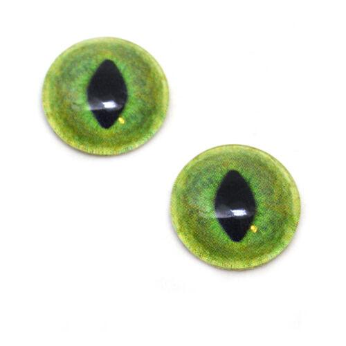 20mm Pale Green Cat Realistic Animal Eye Jewelry Taxidermy Art Glass Doll Eyes
