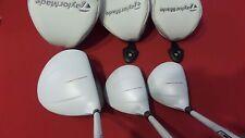 Taylormade AeroBurner White Wood Set 12* Driver 3-5 Woods Regular Graphite Lefty