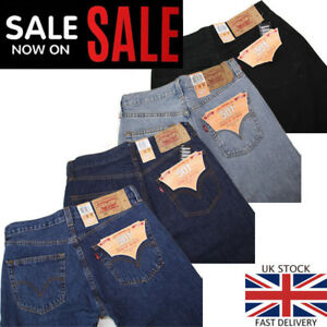 Levis-501-Jeans-Men-039-s-Original-Levi-039-s-Strauss-Denim-Straight-Fit-New-All-Sizes