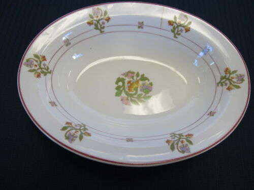 "St Albans O P Co Syracuse China 8 78"" Oval Vegtable Serving Bowl MPRR Pattern"