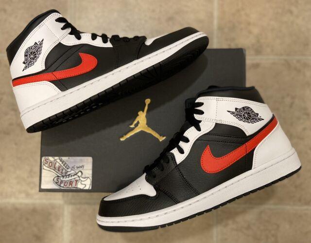 Nike Air Jordan 1 Retro Mid Chile Red White Black 2021 Basketball Mens Size