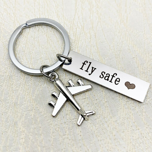 Creative New Pilot Gift Fly Safe Traveling Flight Attendant Gifts Keychain N7