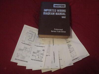 1992 Nissan Sentra Nx1600 Nx2000 Wiring Diagrams Schematics Set Ebay
