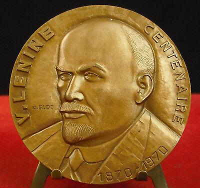 * Médaille Vladimir Ilitch Oulianov Влади́мир Ильи́ч Улья́нов Lénine Medal 铜牌 Apariencia Atractiva
