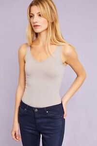 New-Anthropologie-Eloise-Seamless-Reversible-Tank-Top-Cami-Womens-Grey-S-L-24