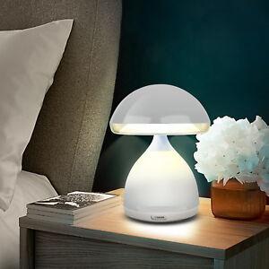 LUMINO-LAMPADA-FUNGO-LED-7-COLORI-RGB-CROMOTERAPIA-TAVOLO-COMODINO-SENZA-FILI