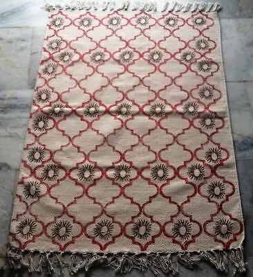 Turkish Rug Dhurrie Rug Kilim Block Print Handmade Moroccan Rug Persian Rug