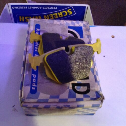 pagid yellow rs-19 rear brake pads for bmw e46 competition