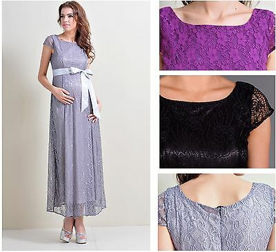Maternity Evening dress,Baby Shower Wedding Bridal Party Pregnancy Lace Gown 205