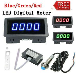 4-Digital-LED-Tachometer-RPM-Speed-Meter-Car-Meter-Proximity-Switch-Sensor-UK