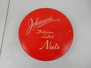 Vintage Johnson's Nut Co. Delicious Salted Nuts Tin