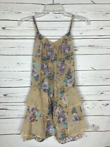 Boutique-Blu-Pepper-Floral-Sleeveless-Top-Tunic-Tank-Blouse-Women-039-s-Sz-M-Medium