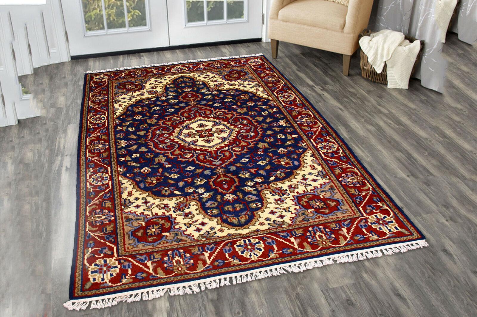 Carpet Oriental Rug Blue Wool Carpets