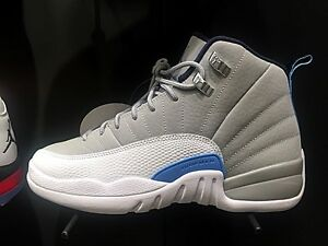newest 9138f e766c Image is loading Air-Jordan-Retro-12-XII-UNC-Grey-White-