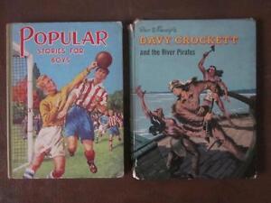 Two-Vintage-Childrens-Books-039-Popular-Stories-for-Boys-039-amp-Davy-Crockett-Disney