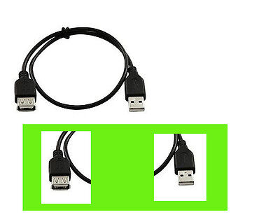 1 cable- 3ft USB 2.0 Male to Female Extension Cable USB Cord