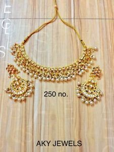 Bollywood-Gold-Tone-Kundan-Choker-Style-Bridal-Necklace-Latest-Jewelry-Set