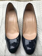 CHRISTIAN LOUBOUTIN Patent Leather Simple 85 Heels Pumps 39 Navy