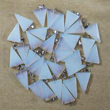 Opal stone triangle shape charms pendants diy jewelry making 50pcs/lot Wholesale