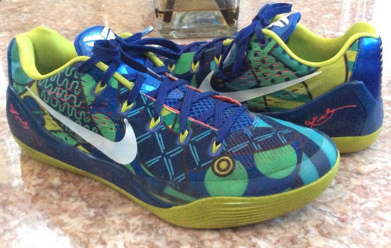 Nike Kobe IX World Cup Brazil Game Royal/Venom Green Shoes Size 11.5