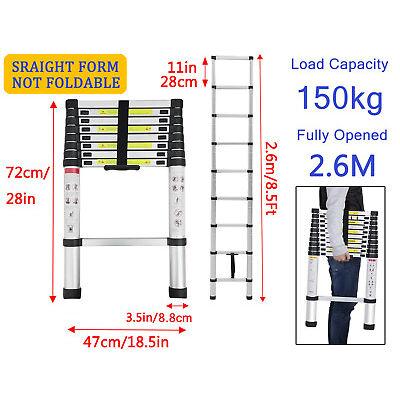 Telescopic Folding Ladder Aluminum 3.8M/5M Extendable Multi Purpose Step Tool