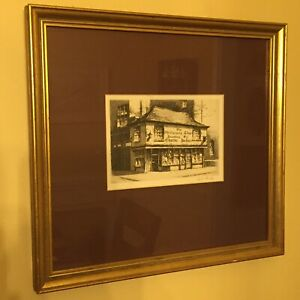 Cecil Forbes- Genuine Original Signed AP Etching - Dickens Old Curiosity Shop