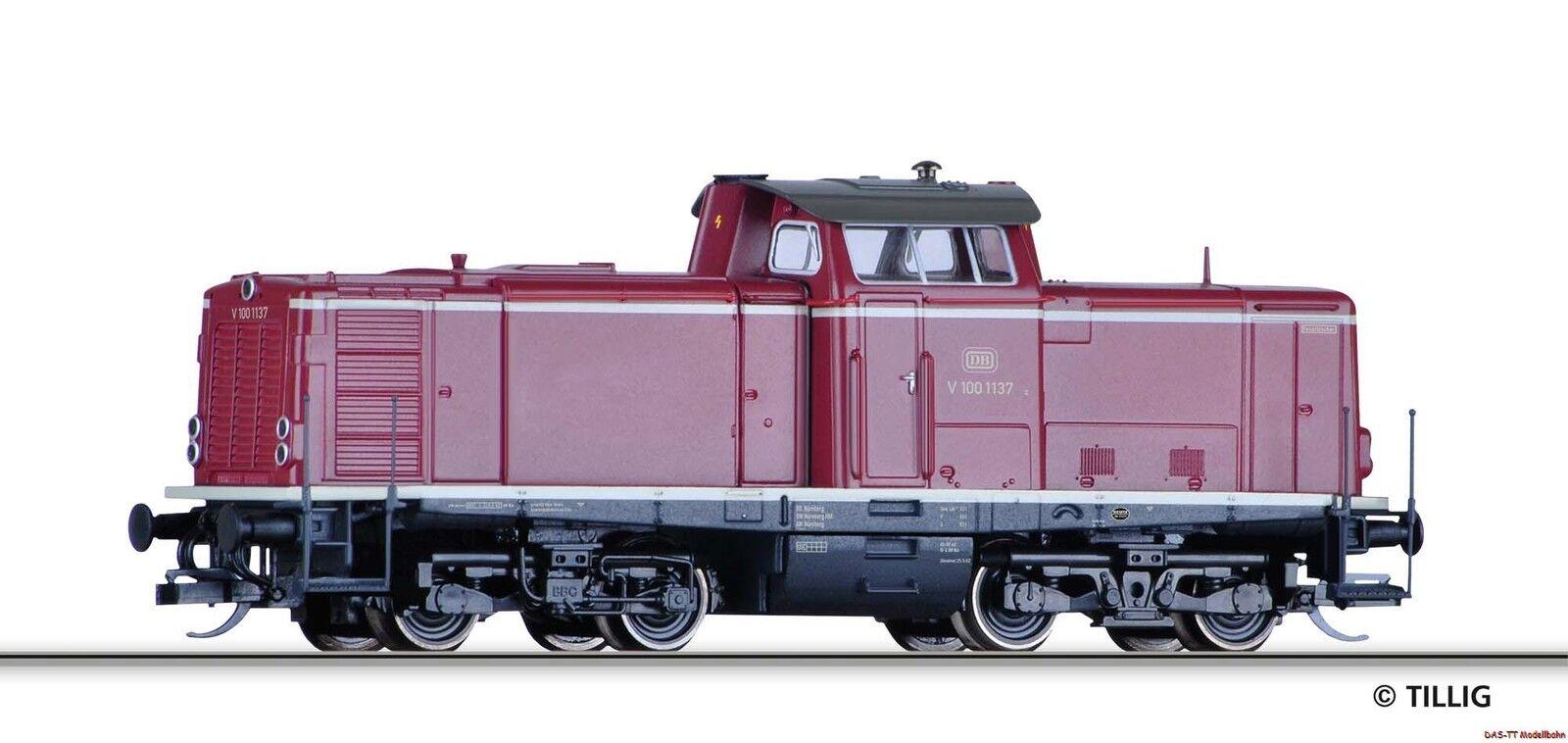 TT Locomotiva Diesel v100.10 DB EP. III Tillig 501351 NUOVO