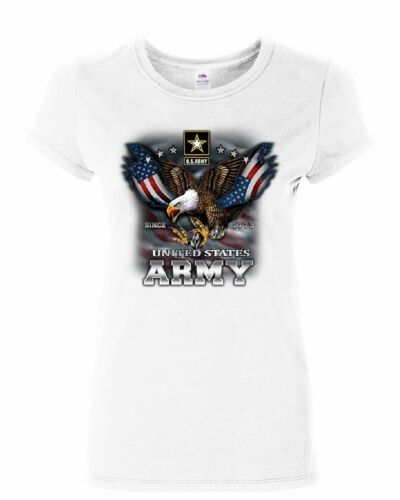United States Army Women/'s T-Shirt Bald Eagle Army Strong Since 1775 USA Shirt