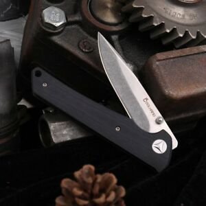 Cool-Hand-EDC-440-Steel-Folding-Ambi-Thumb-Stud-Knife-Black-G-10-Handle-NEW