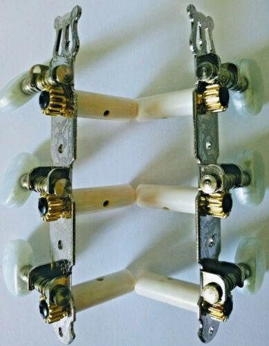 Gitarrenmechanik MEC-1 für Klassik//Konzert-Gitarren links//rechts silberfarben