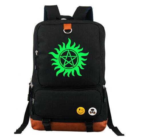 Evil Save People Luminous Shoulder Backpack Book Bag School Bag:D