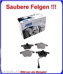 JURID White Keramik Bremsbeläge vorne mit Wako AUDI A3,SEAT,SKODA,VW f . 345 mm