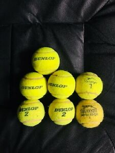 Assorted-New-amp-Used-Tennis-Balls-Dunlop-Slazenger