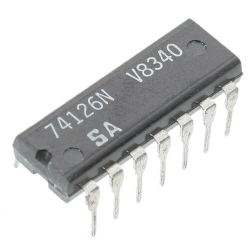 Sn74126 controlador de tubería 4 veces triple dip14