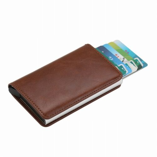 Women Men PU Leather Wallet Credit Card ID Holder Antimagnetic Credit Card Case